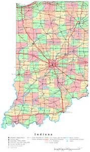 large detailed administrative map of indiana state with