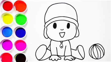 dibujo de zaqueo para colorear dibujos infantiles imagenes c 243 mo dibujar y colorear pocoyo de arco iris dibujos para