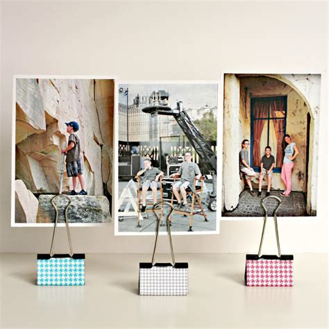 photo display clips binder clip photo holders organize and decorate everything