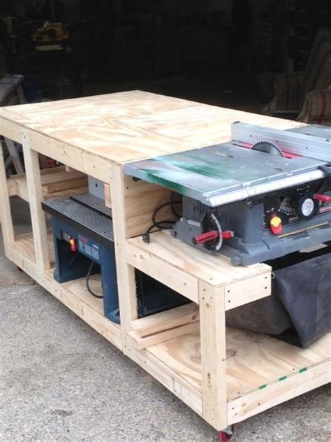 how to make a table saw bench work bench woodworking creation by boone s woodshed