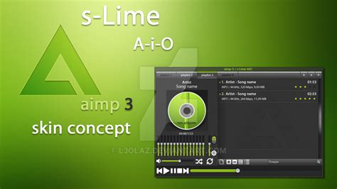 Merries Skin L 44 S 2 Pcs 1 s lime aimp3 skin by l3olaz on deviantart