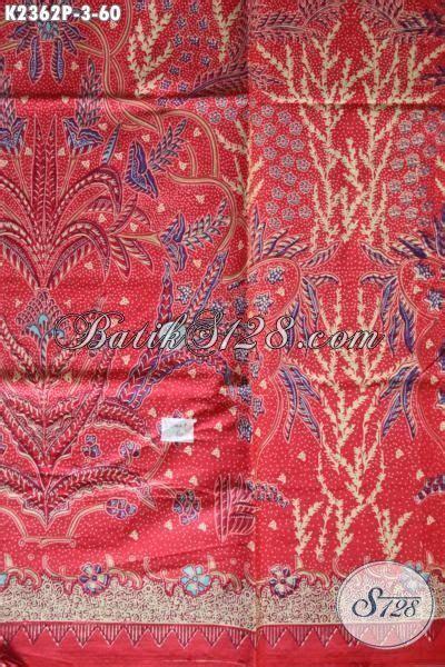 Jual Bahan Kain Printing jual batik kain warna merah motif keren proses printing