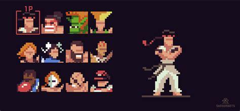 Anime 8 Bit Vs 10 Bit by Shroomarts Fighter 2 Pixelart Characters