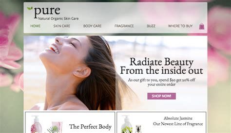 Health Beauty Website Templates Online Store Wix Cosmetic Website Templates
