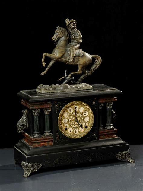 orologi antichi da tavolo orologio da tavolo in legno ebanizzato e metallo sbalzato