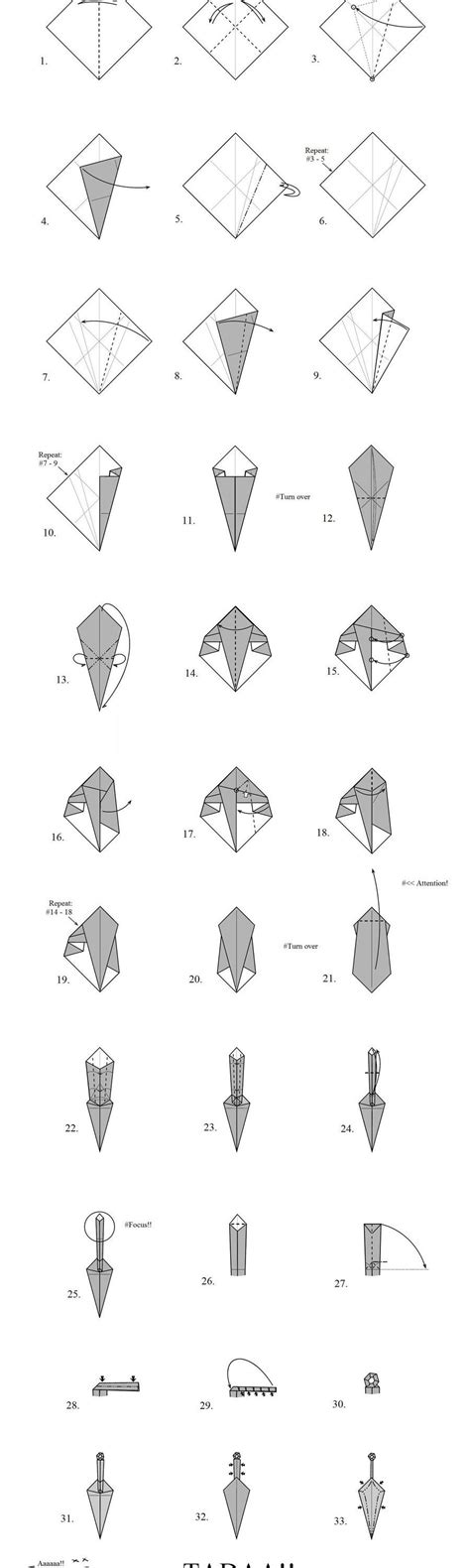 Shafer Origami Diagrams - origami how to make a origami paper sword origami
