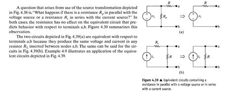 resistor and current source in parallel power could we remove the resistor in parallel with voltage source or in series with current