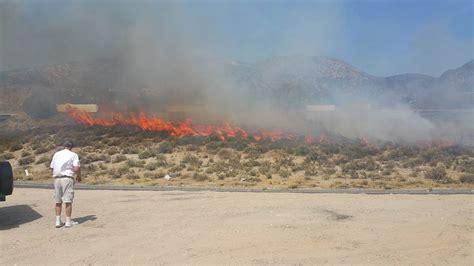 cajon pass fire breaking firefighters battling brush fire in cajon pass