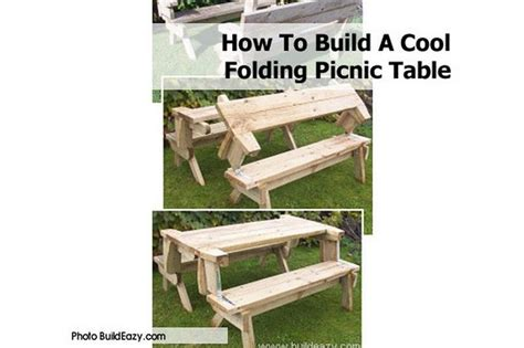 how to build a picnic table and benches folding picnic table bench diy quick woodworking projects