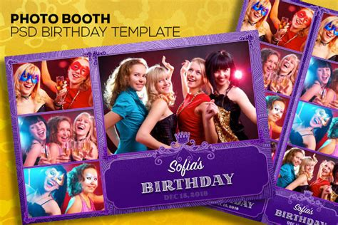 photo booth template psd photobooth psd templates two size templates on creative
