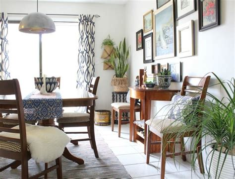 vintage eclectic fall dining room    home