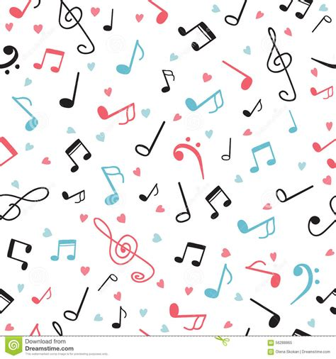 music notes pattern background music notes abstract seamless pattern hand drawn
