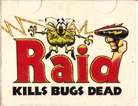 raid bed bug killer raid quot kills bugs dead quot 2 deck playing cards box art collectors weekly