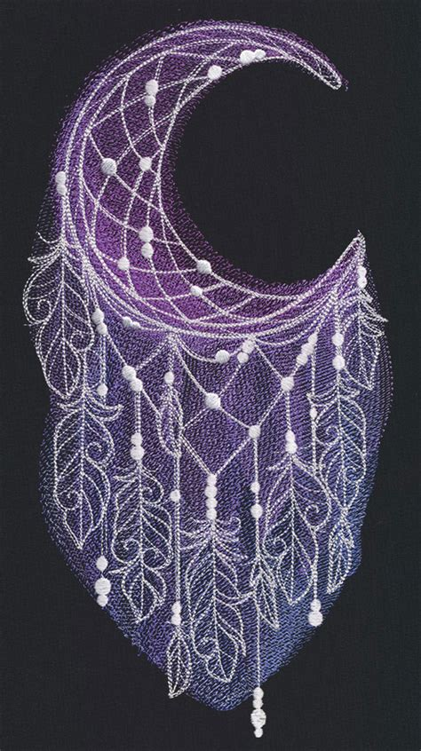 dreamcatcher embroidery design moonlight dreamcatcher urban threads unique and awesome