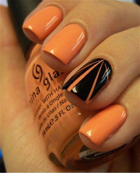 easy nail art orange and black manicura halloween el nail art ataca en la noche del miedo