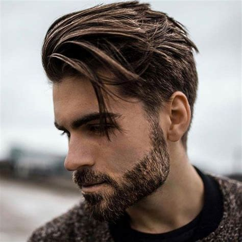 mens hairstyles pulled forward medium length hairstyles for men 2018 side sweep hair