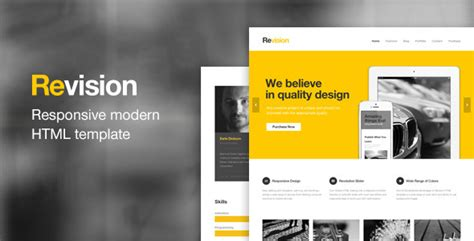 revision responsive html5 template themeforest