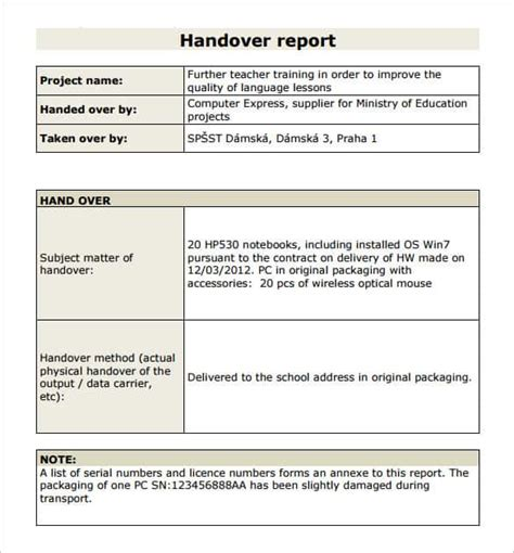 Project Handover Template Excel Calendar Template Excel Restaurant End Of Shift Report Template