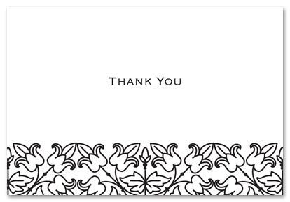 black thank you card template black and white thank you cards printable free clipart