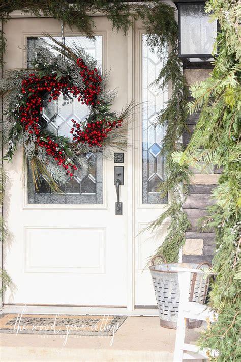 garland frame  front door porch