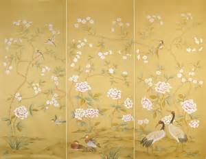 Oriental Floor Vases Handpainted Silk Wallpaper Asian Wallpaper Other