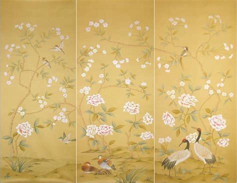 Wallpaper Design Asian Paint | handpainted silk wallpaper asian wallpaper other