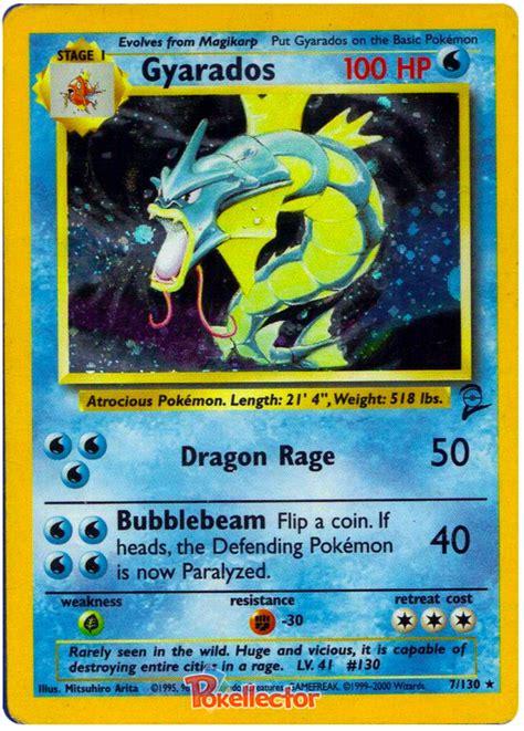 Cards Kartu Base Set Gyarados Base Set 2 7 Card