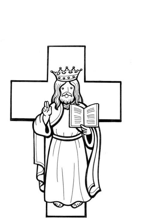 Desenho de Cristo rei para colorir - Tudodesenhos