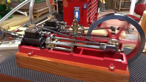 stuart twin victoria live steam engine at ataf club tessin stuart twin victoria cleaned up and tested on air youtube