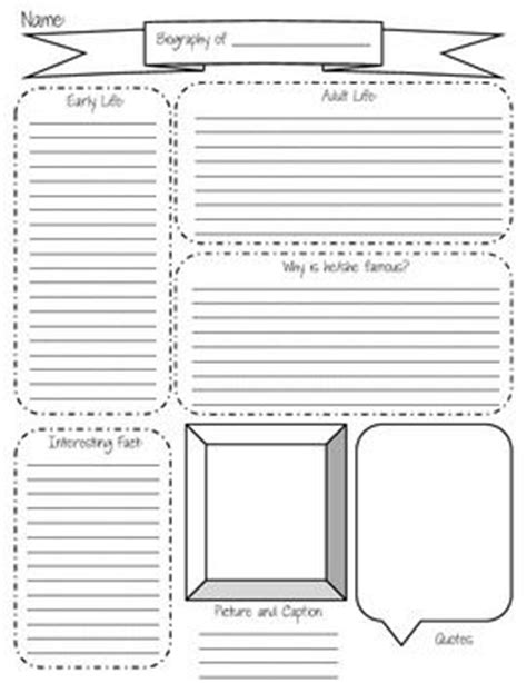 fourth grade biography graphic organizer 314 best images about school on pinterest comprehension