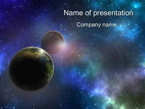 Planets Powerpoint Template For Impressive Presentation Free Download Microsoft Powerpoint Templates Space
