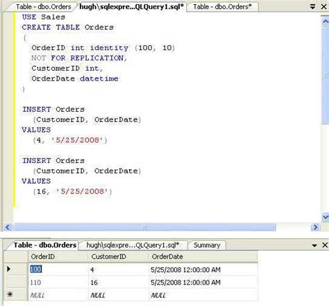 Tsql Create Table by How Do I Reseed A Sql Server Identity Column