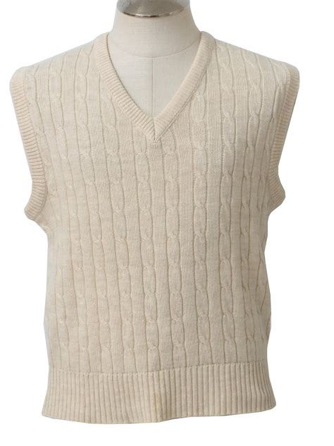 mens cable knit sweater vest mervyns mens collection 80 s vintage sweater early 80s