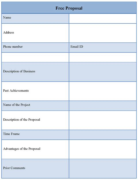 free proposal template of free proposal sle templates