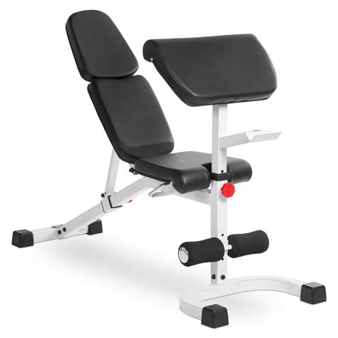 preacher curl on incline bench xmark fitness flat incline decline bench with preacher curl xm 4417 white