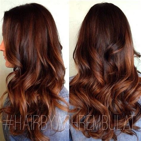 auburn with ombre highlights auburn highlights hair color pinterest
