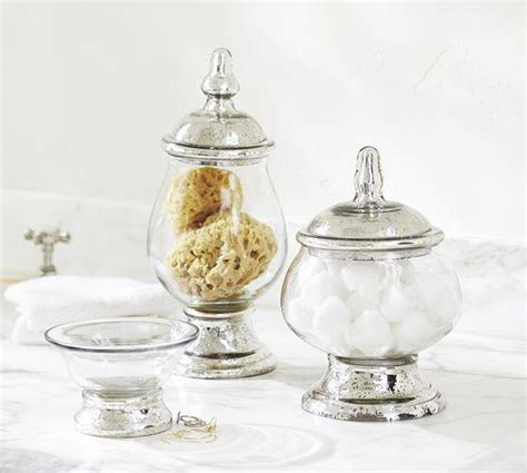 mercury glass bathroom accessories evleen mercury glass bath accessories pottery barn