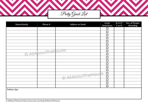 party planning printables kit allaboutthehouse printables
