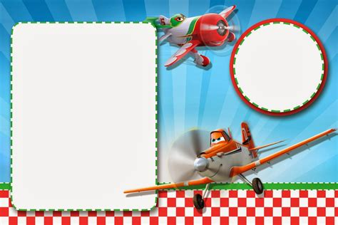 Aeroplane Template For Birthday Card by Planes Disney Free Printable Cards Or Invitations Oh