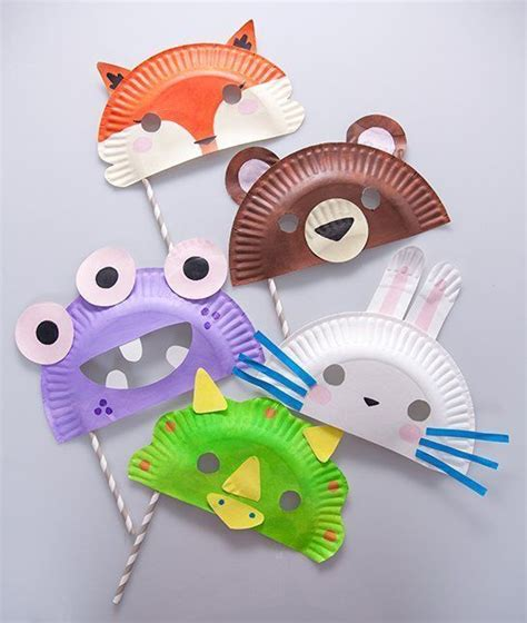 How To Make Paper Plate Masks - 17 best ideas about paper plate masks on paper
