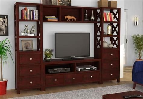 Tv Wall Panel Furniture by Tv Units Buy Wooden Tv Unit Online Tv Stand Cabinet