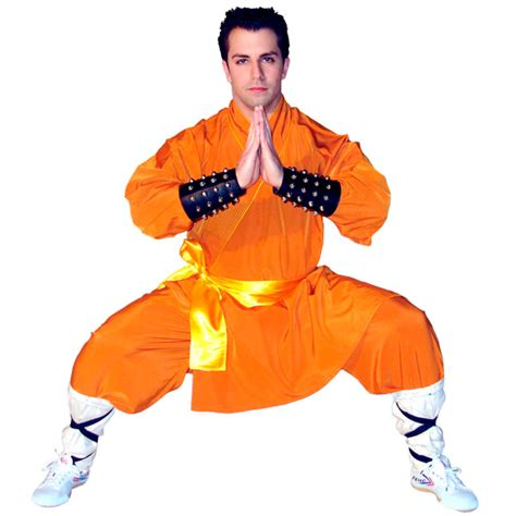 Kung Souvenir Dress Mano Yellow Orange 45 001 shaolin style warrior monk robes gray orange