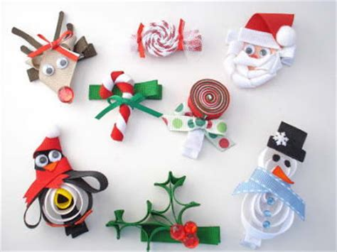 bowsweet christmas hair accessories ribbon sculptures
