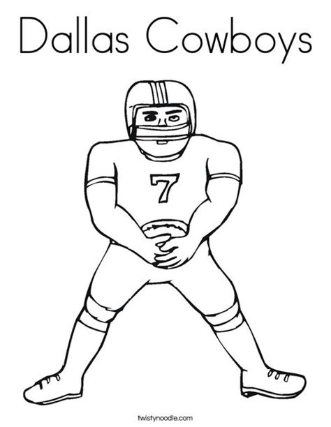 cowboys football coloring page dallas cowboys coloring page twisty noodle