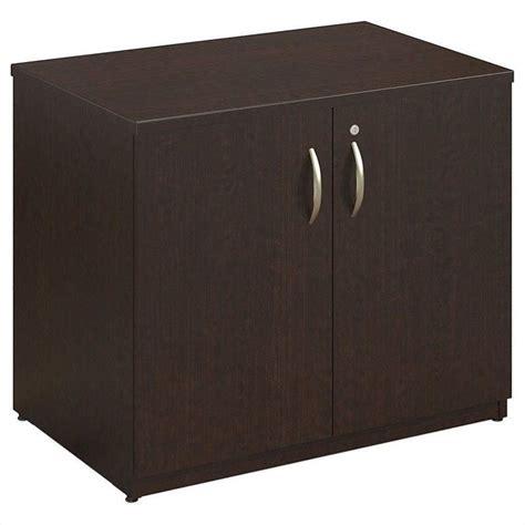 elite multimedia storage cabinet bush business series c elite 36w storage cabinet in mocha