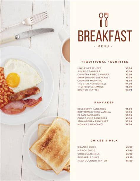breakfast lunch dinner menu template modern continental breakfast menu templates by canva