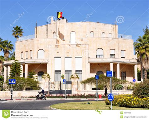 consolato belgio belgian consulate jerusalem royalty free stock photos