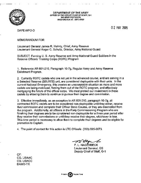 Memo Format Army 7 Army Memorandum For Record Template Cio Resumed