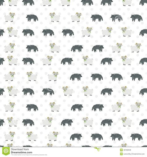 wolf pattern stock sheep and wolf pattern stock vector illustration of