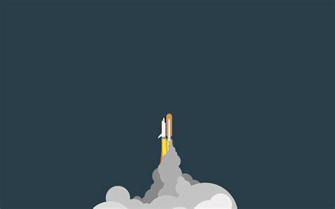 Minimalist Space by Rockets Spaceship Minimalism Wallpapers Hd Desktop And